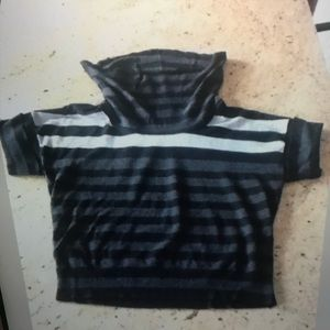 The Limited Women's Sweater L Black&Gray strips